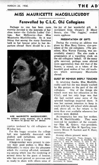 Mauricette farewell 1936