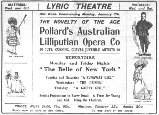 Pollards advertised Calgary Herald 3 Jan 1906