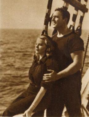 With Geo O'Brien in Windjammer 1937