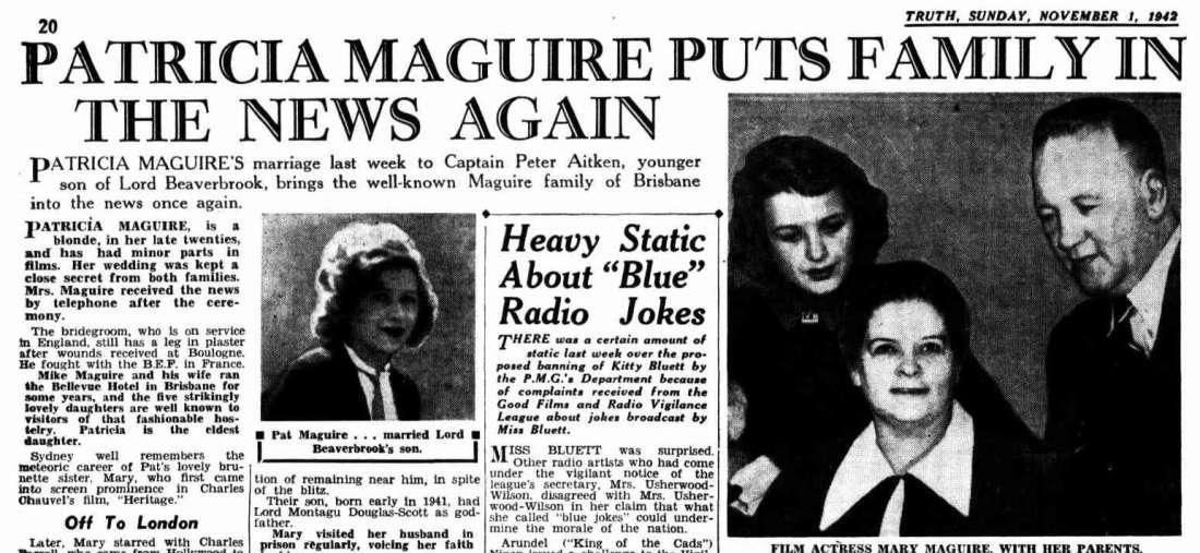 Mary and Patsy 1942