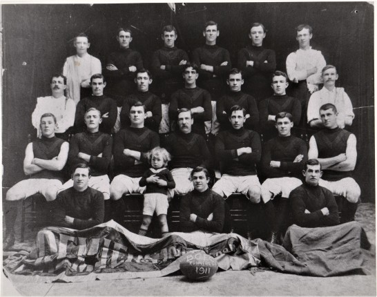 Boulder City Football Club W.A. 1911 William sitting at left