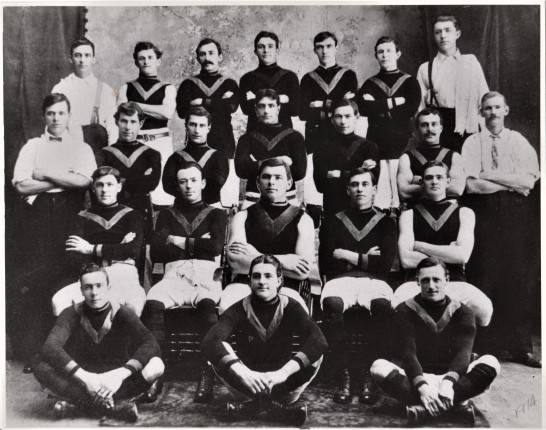 Sunshine-Braybrook Football Club c 1914 William sitting right