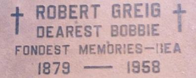 Robert Greig memorial
