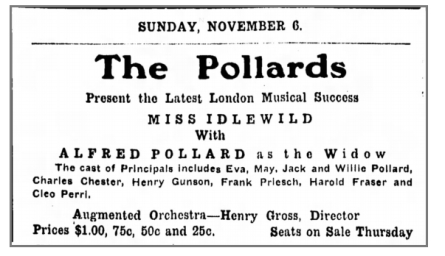 pollards in 1910