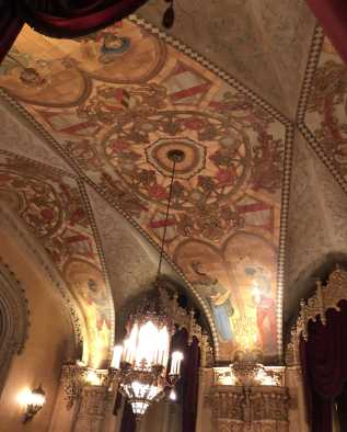 Features of the Regent include the ornate fantasy ceilings, marble staircases and terrazzo flooring.