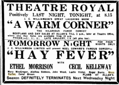 Adelaide Theatre Royal 1931