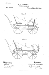 US patented Child's carriage