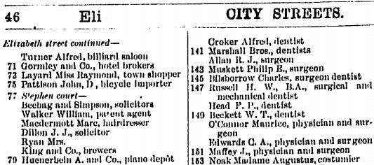 Macdermott in the Sands Directory 1898