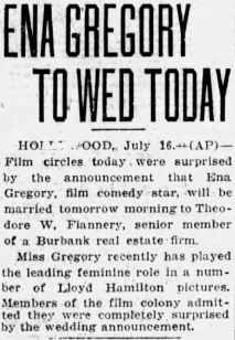 Ena no Edna gets married SF Examiner 17 July 1927