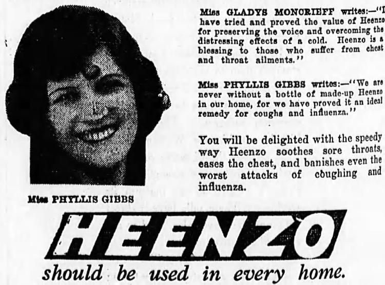 Heenzo ad 1928