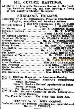 Sherlock Holmes in Aust 1902