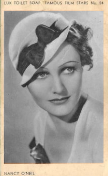 Nancy on a Lux soap card 1933-4
